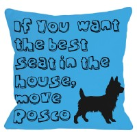 One Bella Casa Personalized Move Throw Pillow HMW2263