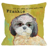 One Bella Casa Personalized Shih Tzu Throw Pillow MONO1064