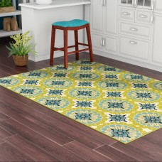 Andover Mills Brendel Green/Ivory Indoor/Outdoor Area Rug ANDV1729