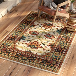 Loon Peak Canyonwood Brown/Red Area Rug LOON7708