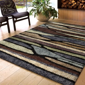 Threadbind Xavier Brown Area Rug THBD1135