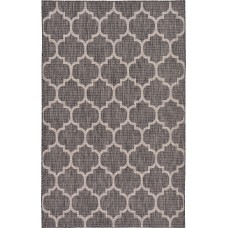 Charlton Home Ernestine Black Indoor/Outdoor Area Rug CHLH6630