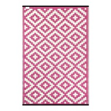 Green Decore Nirvana Pink/White Indoor/Outdoor Area Rug GDCE1005