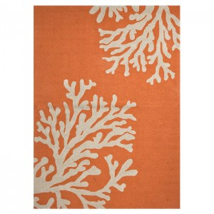 Highland Dunes Fortson Hooked Orange Indoor/Outdoor Area Rug HIDN6698