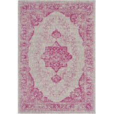 Mistana Laurine Floral and Plants Bright Pink Indoor/Outdoor Area Rug MTNA4555