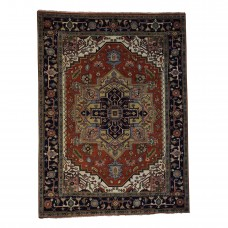 Astoria Grand One-of-a-Kind Sager Serapi Heriz Hand-Knotted Red Red Area Rug ASTD1501