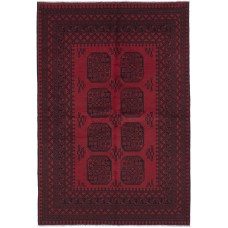 Bloomsbury Market One-of-a-Kind Bridges Traditional Hand-Knotted Red Area Rug BLMT2957