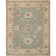 Bloomsbury Market One-of-a-Kind Li Hand-Knotted Wool Teal Area Rug FBWA1195