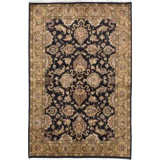 ECARPETGALLERY One-of-a-Kind Sultanabad Hand-Knotted Black Area Rug ECR4301