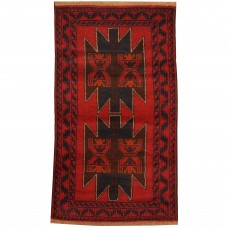 Isabelline One-of-a-Kind Prentice Hand-Knotted Wool Red/Navy Area Rug ISBL7746