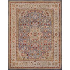Mansour One-of-a-Kind Antique Agra Handwoven Wool Beige Indoor Area Rug MNSR1059