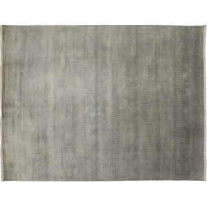 Noori Rug One-of-a-Kind Grass Super Fine Dasha Hand-Knotted Gray Area Rug NRUG1713