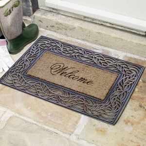 A1 Home Collections LLC Welcome Decorative Doormat AHOC1044