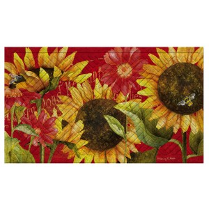August Grove Juliaetta Sunflower Embossed Doormat ATGR8150