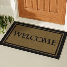 Charlton Home Higby Rectangular Welcome Bordered Doormat CHRL4204