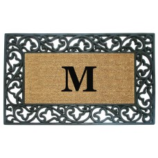 Nedia Home Acanthus Border Personalized Monogrammed Doormat NEDH1098