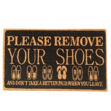 Red Barrel Studio Carruthers Please Remove Shoes Doormat RBRS5927