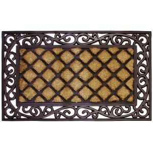 Robert Allen Home and Garden Lattice Scroll Doormat RAHG1129