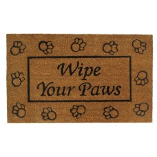 Zingz Thingz Wipe Your Paws Entry Way Doormat ZNGZ3774