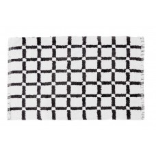 Linen Tablecloth Grid Reversible Cotton Bath Mat LNTB1206