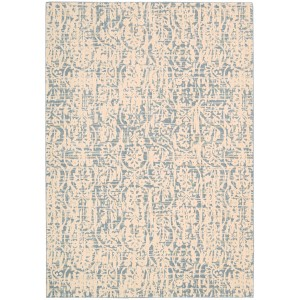 Bungalow Rose Shaima Ivory/Blue Area Rug BNGL7247