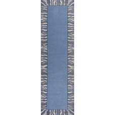 Ebern Designs Hancock Waves Denim Blue Area Rug EBND6098