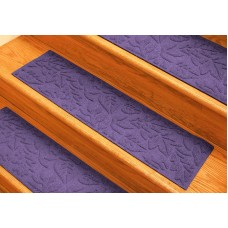 Bungalow Flooring Aqua Shield Purple Fall Day Stair Tread WDK1444