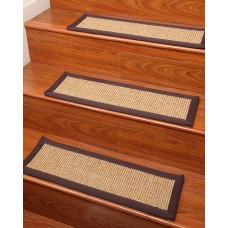 Natural Area Rugs Sisal Casual Living Brown/Tan Stair Treads NRU11782