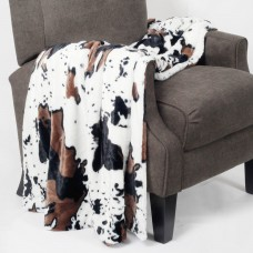 BOON Throw Blanket Cow Double Sided Faux Fur Throw NBNF1050
