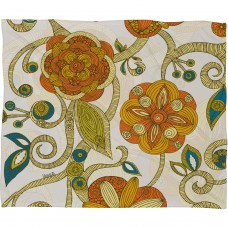 Deny Designs Valentina Ramos Orange Flowers Throw Blanket NDY3320