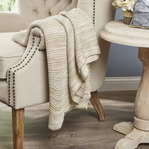 Eider Ivory Aleana Knitted Throw EDIV1020
