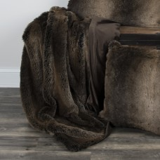 Eider Ivory Carrington Faux Fur Throw EDIV1160