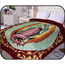 JCP Hometex Inc. Hiyoko Holymother Virgin Mary Mink Blanket JCPH1025