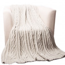 Loon Peak Shibles Knitted Luxury Chenille Throw LNPE1928