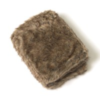 The Twillery Co. Ernest Coyote Faux Fur Throw CHMB2097