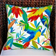 Artisan Pillows Kid's Colorful Tropical Birds Indoor/Outdoor Pillow Cover ARPI1060