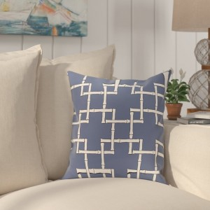 Bay Isle Home Connelly Bamboo Geometric Outdoor Throw Pillow BAYI3237