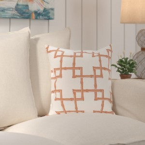 Bay Isle Home Connelly Bamboo  Geometric Outdoor Throw Pillow BAYI5726