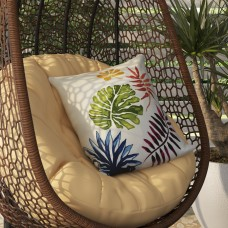 Bay Isle Home Costigan Brambles Floral Print Outdoor Throw Pillow BAYI4728