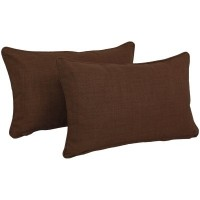 Blazing Needles Solid Outdoor Lumbar Pillow BLN2512