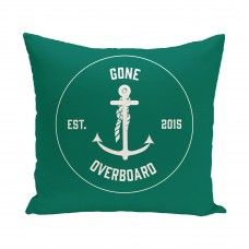 Breakwater Bay Hancock Gone Overboard Word Outdoor Throw Pillow BRWT4861