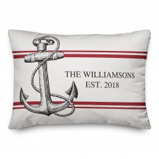 Breakwater Bay Oakport Coastal Anchor Personalized Outdoor Lumbar Pillow DDCG5669