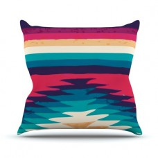 East Urban Home Surf by Nika Martinez Outdoor Throw Pillow HACO9935