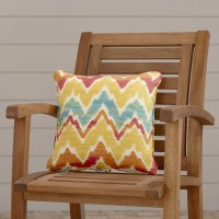 Easy Way Products Everyday Single Piped Zippered Outdoor Throw Pillow ESWY1134