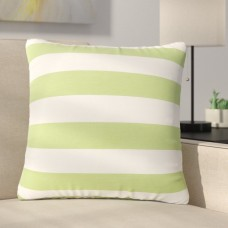 Ebern Designs Mayne Square Striped Outdoor Throw Pillow EBDG6360