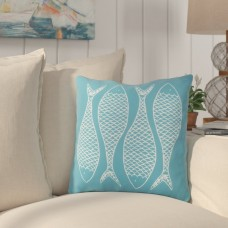 Highland Dunes Cannaday Fabulous Fish Outdoor Throw Pillow HLDS2918