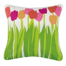 Kate Nelligan Tulips Cotton Throw Pillow KCTE1088