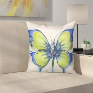 Latitude Run Prindle Butterfly Outdoor Throw Pillow LTTN1830