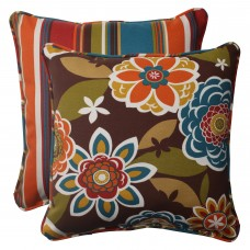 Pillow Perfect Annie / Westport Reversible Corded Outdoor Throw Pillow PWP1480