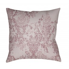 Surya Moody Damask Distressed Outdoor Throw Pillow YA59460